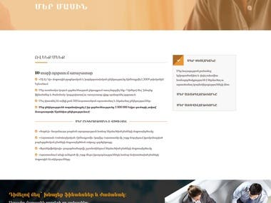 Multilingual business website: WordPress CMS Revolution Slider WPBakery page builder
