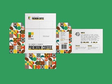 This is my winning entry for a contest that requires redesigning of packaging for premium coffee. They required a simple and minimalist design for the box that includes modern colors.