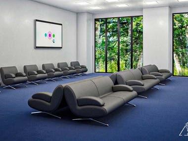interior design to  business building floor