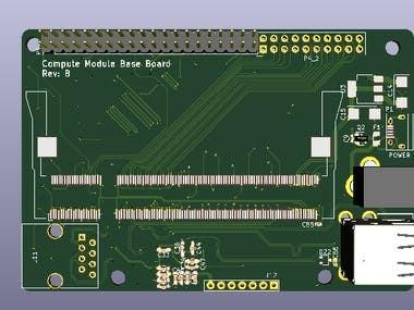 6 Layers KICAD PCB Design Schematic and Pcb for RPI Compute Module