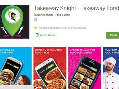 Takeaway Knight: The food ordering app with great discounts on every item you order. We offer you a Pre-order & collection service or an Eco-Friendly fast delivery service. No Pollution - Zero Emission.