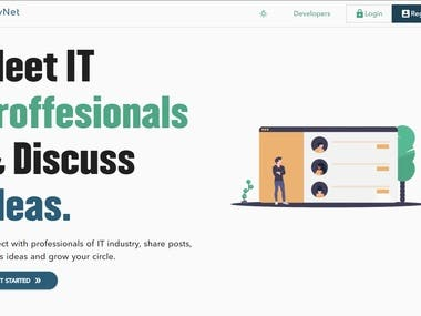 A networking site for IT professionals. https://devnet-tac.netlify.app/
