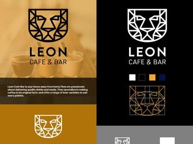 A logo for a cafe and bar.