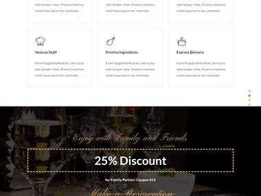 Restaurant Wordpress website