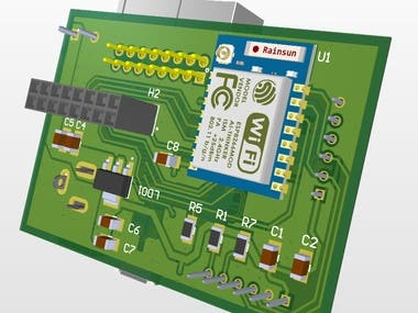 LED driver with ESP-07 module.