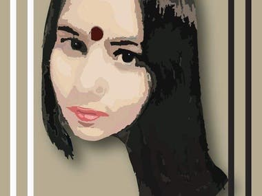 Self portrait as in illustrator art