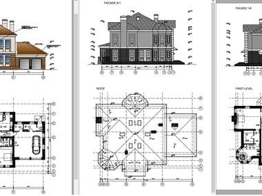 These are Architectural  drawings for residential building.