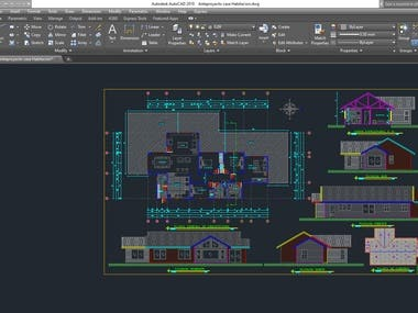 This project is house plan by  using autocad