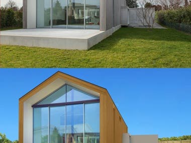 https://www.freelancer.com/contest/1756929  Manipulate house too look more anonymous but realistic, removing windows or certain characteristics, and resulting images, should make the house stand out a bit, not the environment, and in such a way that the house would not give away the real house and the location.