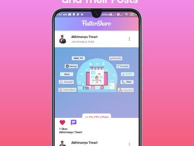 It is a replica of Instagram. It contains timeline, activity feed, searching of user, and my account. You can create you post, like and comment in other's post  Link for App - https://drive.google.com/file/d/1uRN804CPwHUNXmeIDtHbS-ez8FwHHamS/view?usp=drivesdk