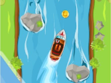 addictive arcade game contains 500+ challenging levels and 100+ obstacles. hold a finger to control the boat.  https://play.google.com/store/apps/details?id=com.inak.jetboat&hl=en