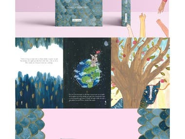 A book made by myself  (illustrations, diagramation, printing and biding)  based on an anonymous and magical children´s story that shows us the power of books and reading to society. / Un libro hecho por mi (ilustraciones, diagramación, diseño y encuadernación) basado en un cuento intantil anonimo que habla acerca de la importancia de los libros y la lectura en nuestra sociedad.  Hope you like it!