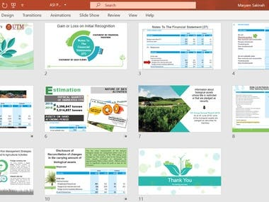 Hello! This is some example of my work in creating slide presentation using PowerPoint.