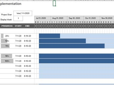 I had to make an Excel sheet wherein one can calculate the performance by the percentage of completion for tracking purposes. This was an excellent experience working with the client and also In gaining more experience working with excel.