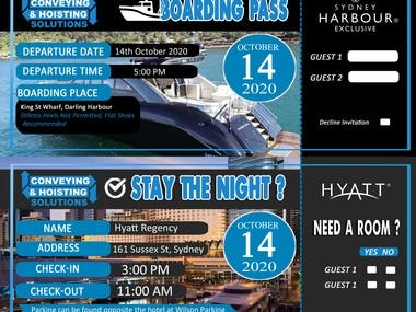 Flyer and Boarding Pass design, I was made unique design.. I can also make some Original design not copy paste. Unlimited revision  until satisfactory. Feel free to contact me and can manage it well.