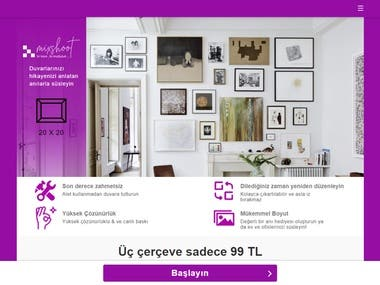 Users can upload their products and order frames to stick to the walls