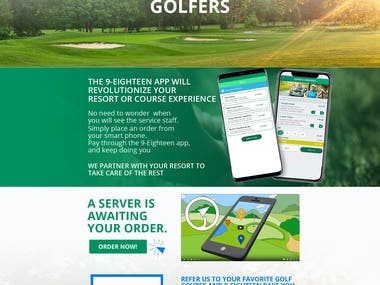 Thats right! Not only do you have a $100 of drinks on us...  You also will have access to the 9-Eighteen application at your golf course!  live: http://golfer.9-eighteen.com/
