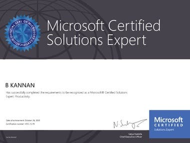 Microsoft® Certified Solutions Expert: Productivity