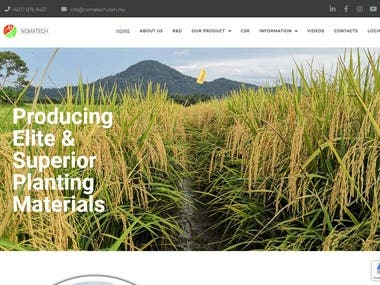 I build this website for agriculture sector, which focus on red rice, healthy rice diet for diabetic patient.