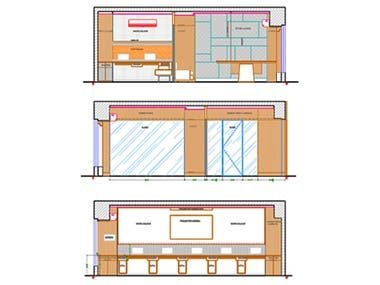 office concept and designing in AutoCAD and 3ds Max