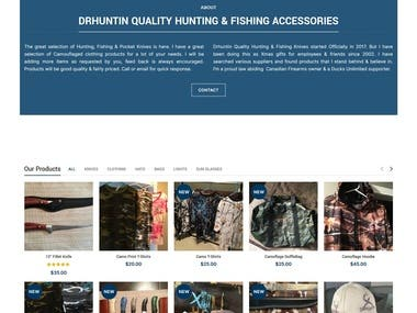 WordPress Website. Link : https://www.drhuntin.com/