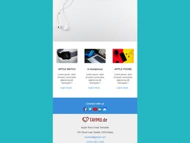 Email Template Design using HTML, CSS with fully responsive and all device, all browser compatibility