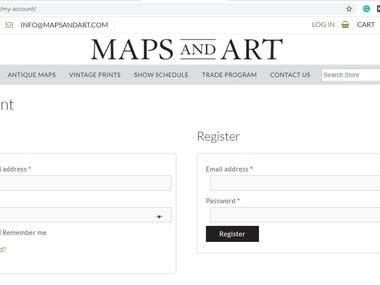 MAPSandART is a Texas-based E-Commerce website that offers vintage and contemporary artwork. I have used wide pictures layout for the homepage to make the website catchy for the users. I along with my team have also focused on building an easy-to-use and easy-to-handle store where both users and owners can operate with ease.   The backend of the website holds all the features for the admin to keep track of the orders and maintain an organized system. Similarly, for the users, we have implemented login functionality where they can manage their accounts for the purchases they make.   Feel free to visit the website here: www.mapsandart.com   Thanks! Muhammad Abrar