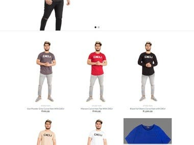this is a men's t-shirt selling site .