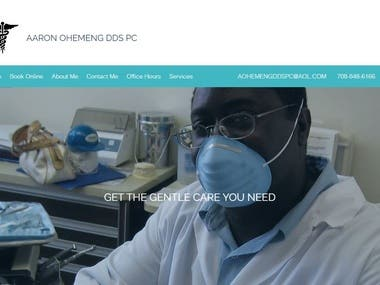 Here is a website I created for my father Dr. Aaron Ohemeng's Dental Office.