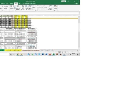 Technical data entry and visualization by using MS Excel.