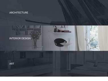 Architecture website for interior design, art, engineering. Prototype