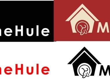Sleeping dog house logo.