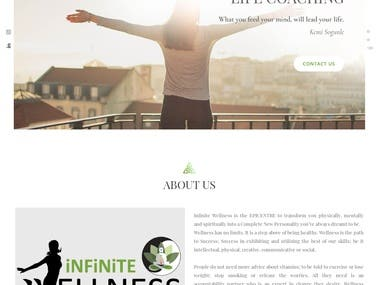 It's a wellness website and the website is developed by PHP. Users are able to view all the classes and pricing packages.  Website URL: http://www.infinitewellness.in/