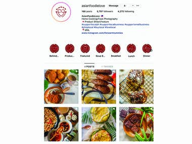 A branding package I did for Instagram food blogger and food photographer Asian Foodie Love. Package includes logos, branding scheme, as well as icons for Instagram story highlights.Check out my Behance Portfolio for the full study.