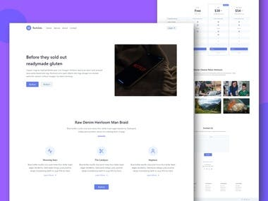 Here is one of my best project. I made this complete website using Tailwind CSS. This website is completely mobile friendly & it will looks good in every size of device. Also this website has beautiful design & layouts.