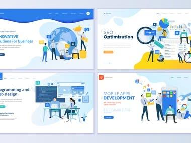 We have Design a UI for a Digital marketing company.
