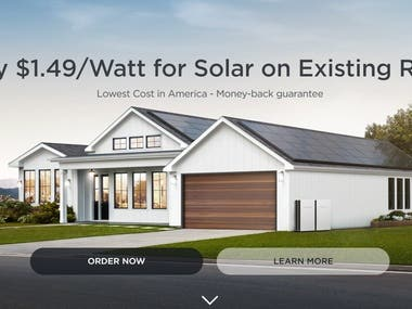 About the project https://www.tesla.com/