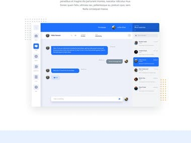 Chat application website design in figma and webflow