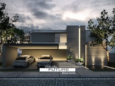 Photorealistic visualization of architecture project