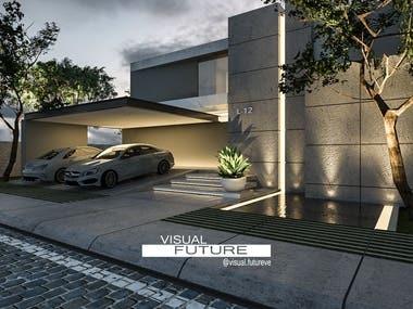 Photorealistic visualization of architecture project.
