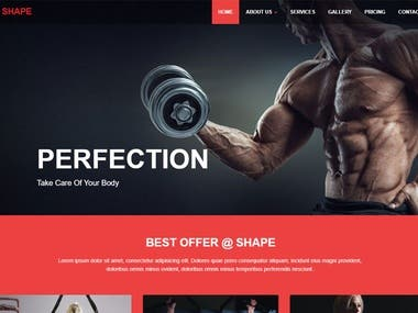 This is fitness website
