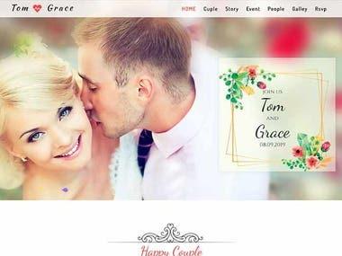 This is wedding website