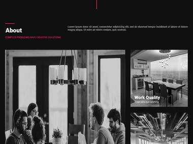 UI Design of an Interior decoration company