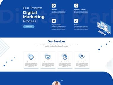 Created landing page for IT website