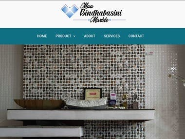 Maa. Bindhabasini Marble is a dealer situated at Birauta-16, Pokhara, Nepal. It is one of the leading dealer for the distribution of tiles, marbles and sanitary equipment to different part of the country.  I have created this website using wordpress and customize it to give touch and branding of Maa. Bindhabasini Marbles. It is a multipage wordpress website.  Visit the live website on: https://mbmarbles.com/