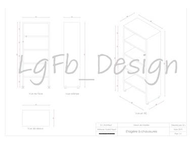 Design of Shoe Cabinet