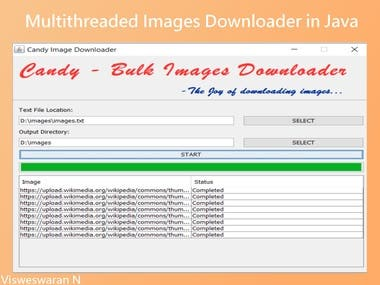 I have written this bulk images downloader for downloading all images link which are present in the text file automatically. This avoids lot of manual work.