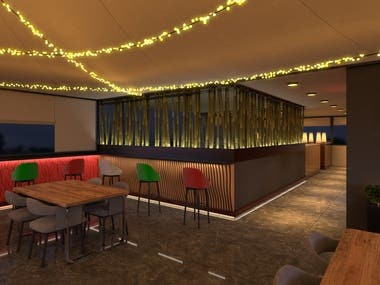 I was responsible for interior designing, 3D modeling and rendering of this project. I really enjoyed working on this project. I had a very understanding client who really appreciate creativity and was open to new ideas.