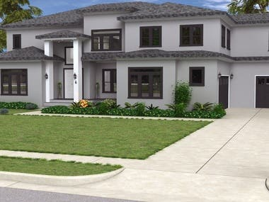 Some 3d Visualization of exterior for clients around the wold. Tried fulfill client requirement using my experience and creativity. Software used: 3DS Max V-Ray Photoshop Maya