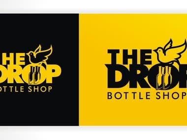 This is Logo for THE DROP BOTTLE SHOP
